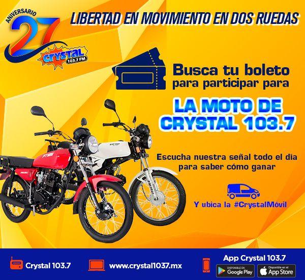Consigue tus boletos para la Moto de Crystal